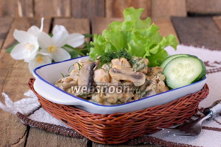 Рецепт Курица с грибами в мультиварке