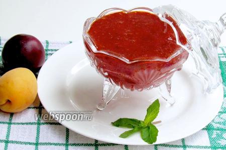 Сливово-абрикосовый соус с мятой