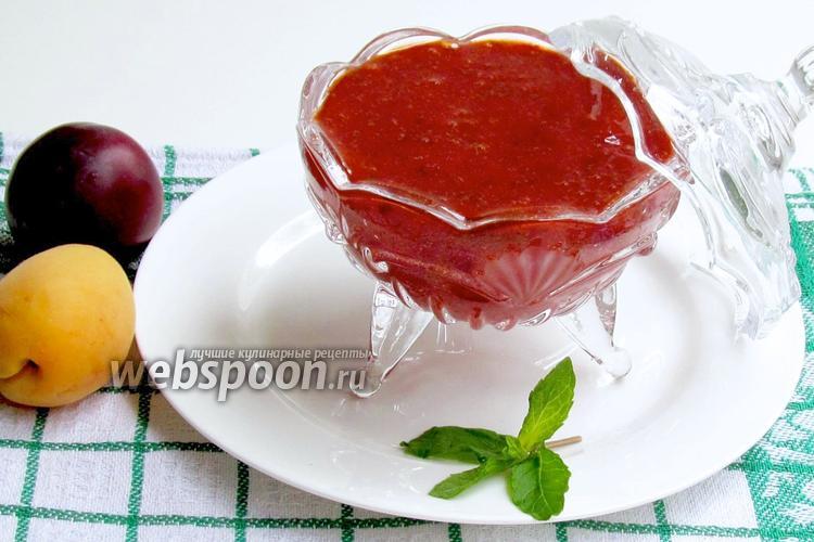 Фото Сливово-абрикосовый соус с мятой
