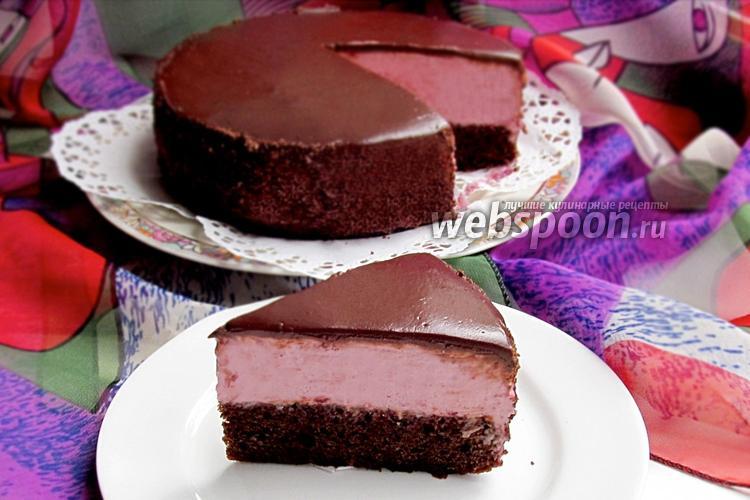 Рецепт Торт-мусс «Вишня в шоколаде»