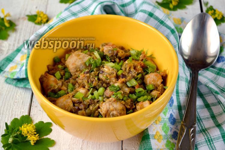 Рецепт Чечевица с курицей в мультиварке