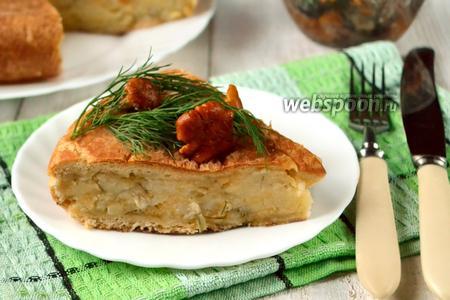 Сырно-картофельный пирог в мультиварке