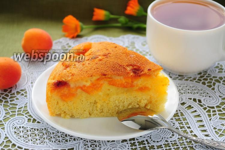 Рецепт Шарлотка с абрикосами в мультиварке