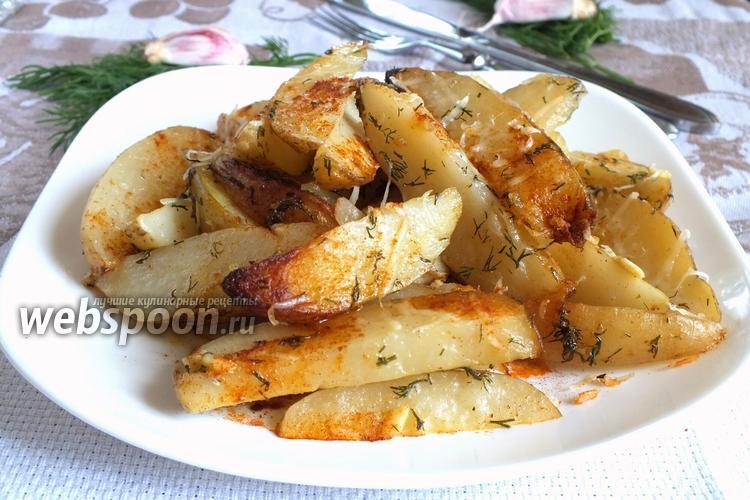 Фото Молодой картофель в пряной заправке