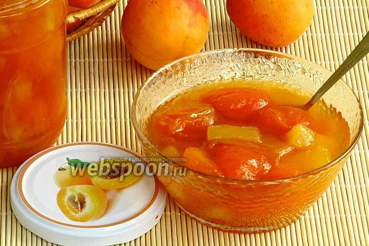 Фото Абрикосовое варенье с кусочками ананаса