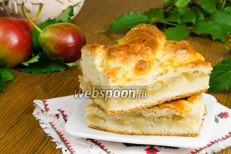 Рецепт Грушевый пирог на творожном тесте