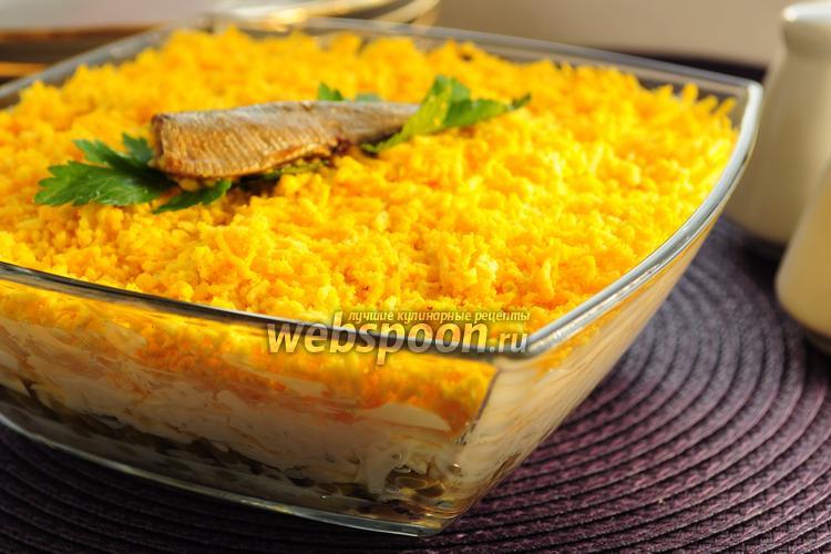 Рецепт Салат со шпротами «Берта»