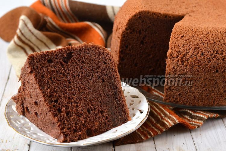 Рецепт Шоколадный шифоновый бисквит в мультиварке