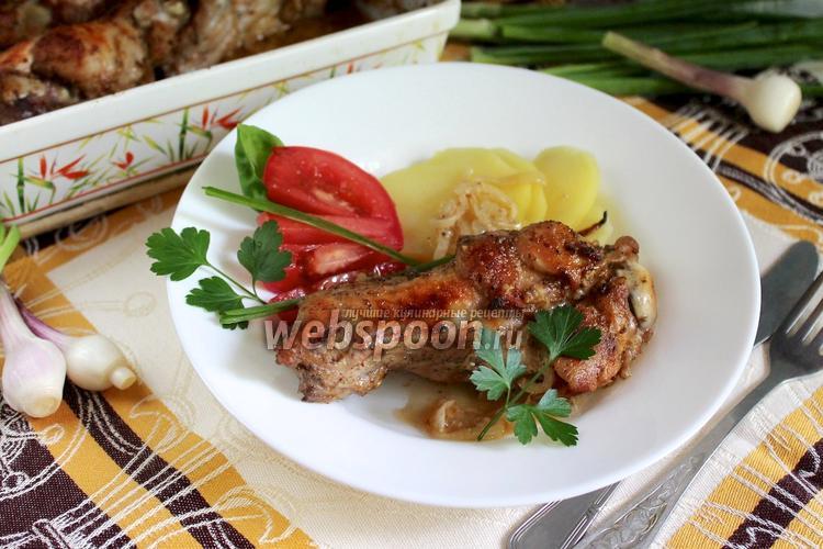 Рецепт Индюшиные крылья в сметанном соусе