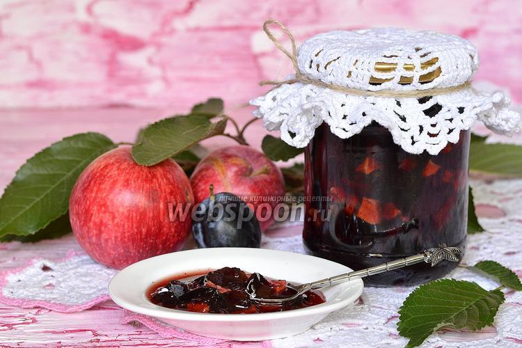 Фото Варенье из яблок и слив