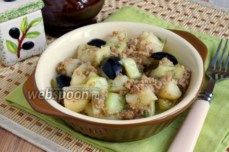 Фото Салат из картофеля с тунцом