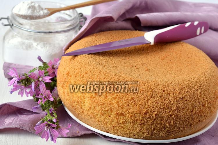 Бисквит с крахмалом рецепт с пошагово