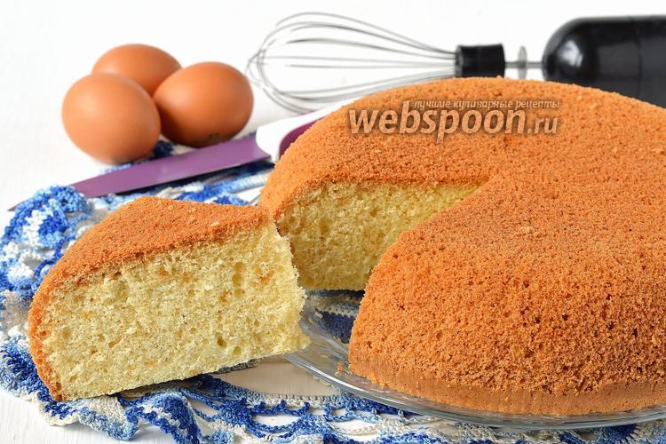 Рецепт Ванильный бисквит на кипятке в мультиварке