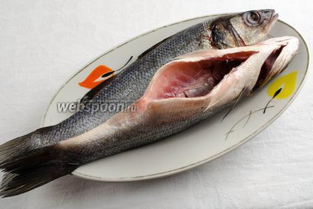 Рыбу почистить, выпотрошить (очень аккуратно удалять желчный пузырь, чтобы не испортить вкус рыбы), удалить жабры. Вымыть под холодной водой. Обсушить льняной салфеткой.