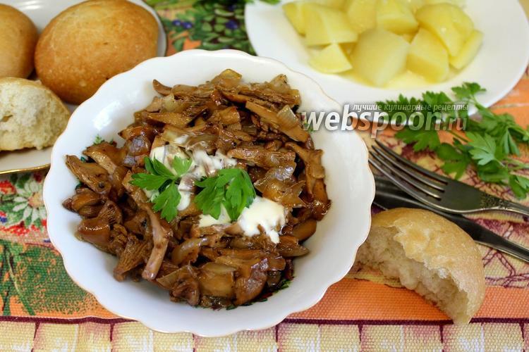 Рецепт Лисички со сливками жареные