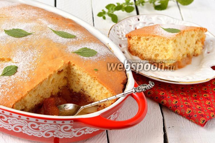 Рецепт Пирог с карамелизованными яблоками