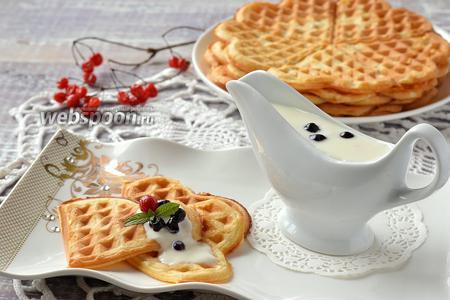 Нежные йогуртовые вафли