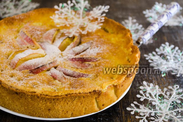 Рецепт Яблочный пирог в сливочной заливке