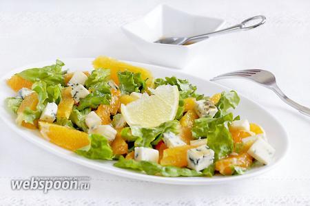 Зимний салат с апельсином