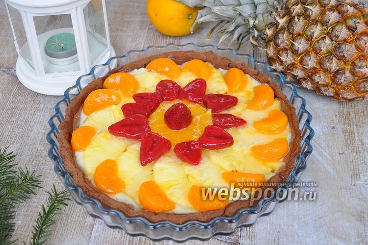 Рецепт Шоколадно-фруктовый тарт