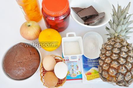 Для приготовления нам потребуется  песочное тесто на шоколадной глазури , его приготовим заранее по рецепту указанному здесь.