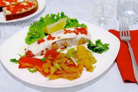 Сёмга под сливочно-сырным соусом