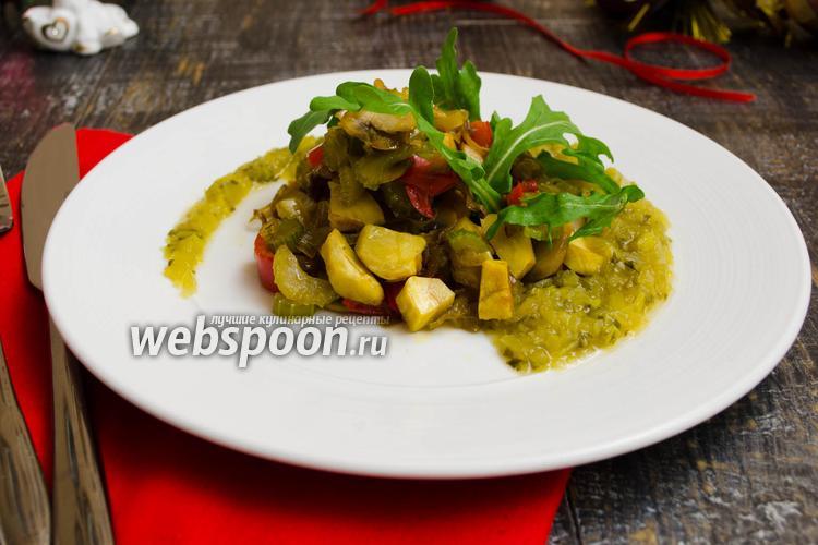 Рецепт Овощное соте с каштанами