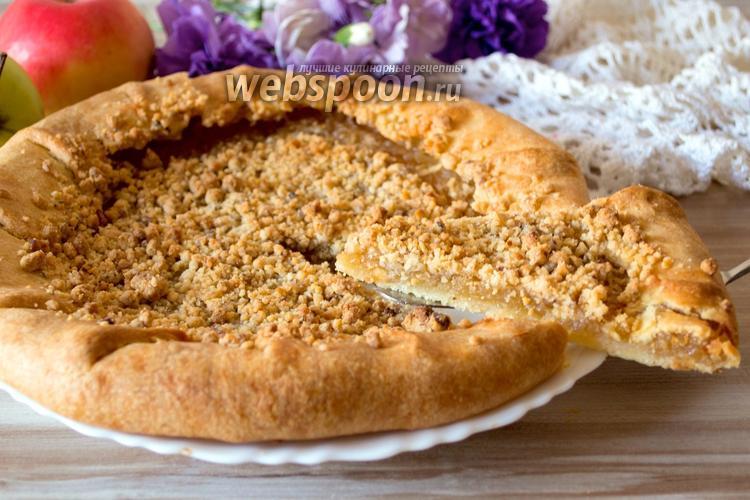 Рецепт Яблочная галета со штрейзелем