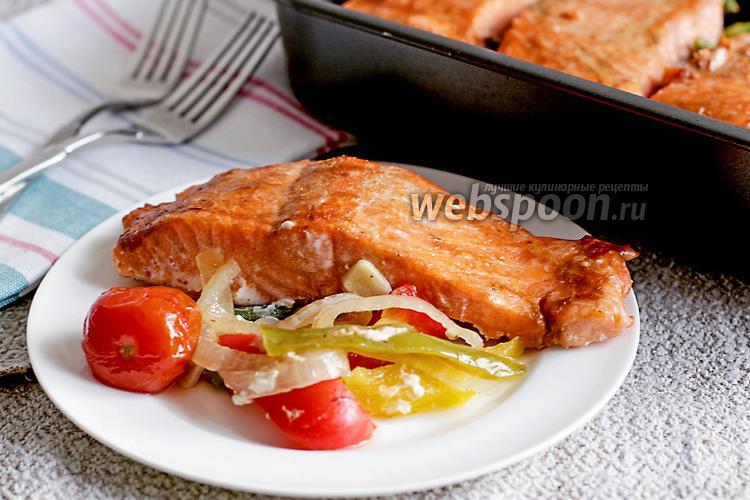 Рецепт Запечённая форель на подушке из овощей