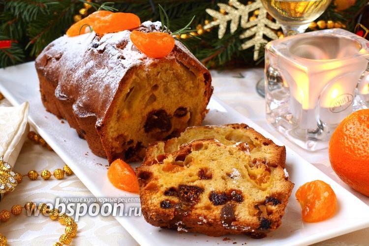 Рецепт Рождественский кекс с мандаринами и сухофруктами