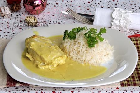 Куриное филе в карри-кокосовом соусе