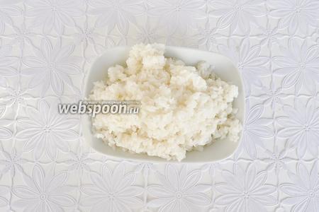 Рис отварить и промыть. Рис должен быть рассыпчатым.
