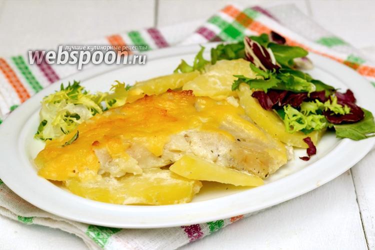 Рецепт Картофель с рыбой в духовке