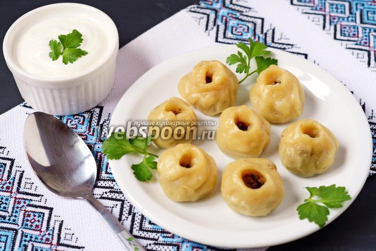 Рецепт Галушки с печенью на пару