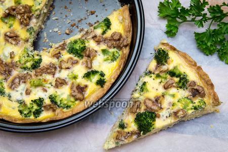 Киш с брокколи и сыром Дор Блю