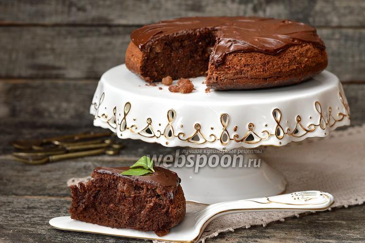 Рецепт Шоколадный кекс с изюмом в мультиварке