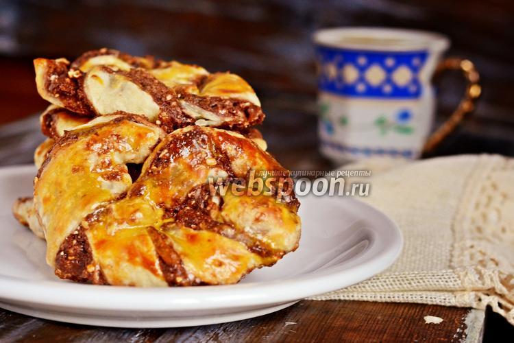Рецепт Слойки-брецели с «Нутеллой»
