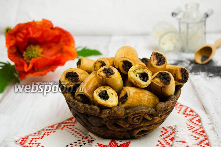 Рецепт Творожное печенье с маковой начинкой