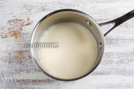 Молоко нагреть. Добавить мёд. Довести до кипения.
