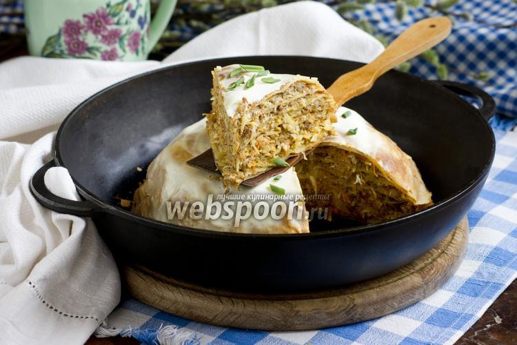 Рецепт Рязанский блинчатый пирог