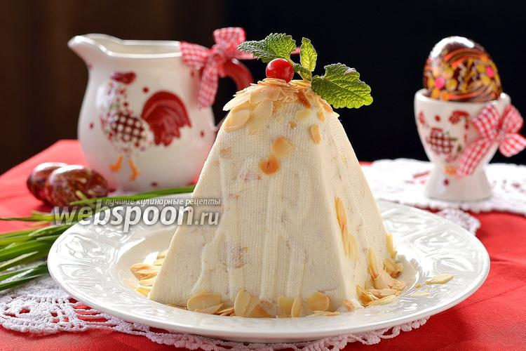 Рецепт Медово-миндальная пасха с маскарпоне