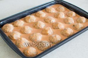 Тефтели в томатно сметанном соусе пошаговый фото рецепт