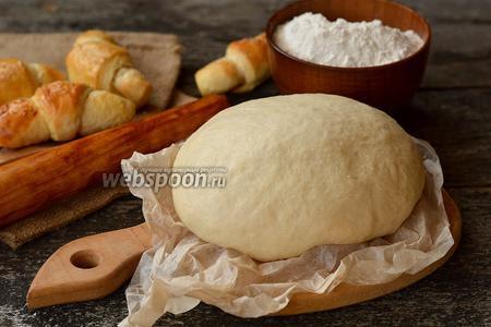 Воздушное дрожжевое тесто на кефире без яиц