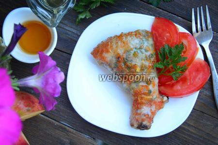 Куриная голень под медово-грейпфрутовым соусом