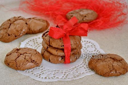 Нежное шоколадное печенье