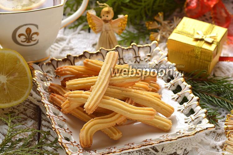 Фото Печенье «Лимонные палочки»