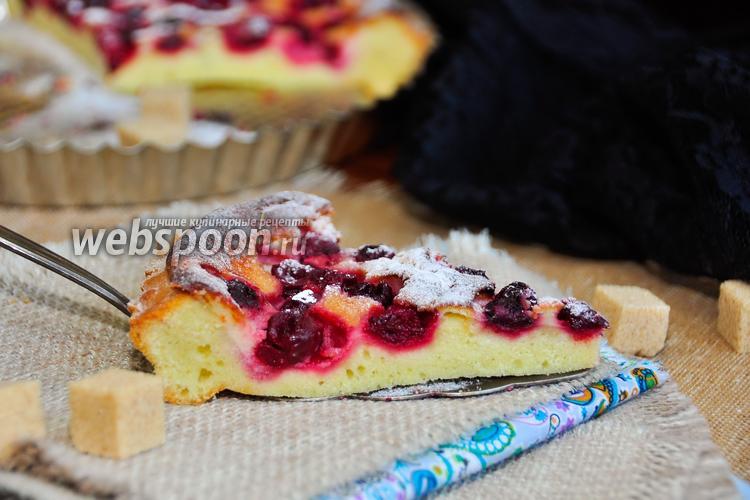 Рецепт Вишнёвый тарт с крем-фреш