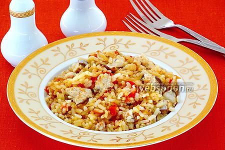 Рыба с рисом по-португальски