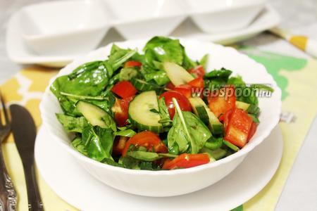 Салат со шпинатом «Разгрузочный»