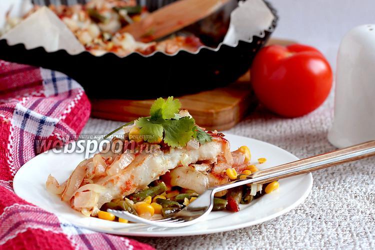 Рецепт Белая рыба с чесноком